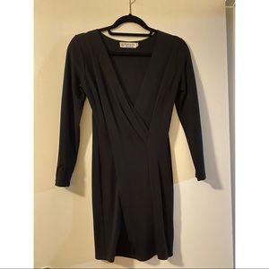 Fighting Eel 3/4 Sleeve Black Dress Size XS